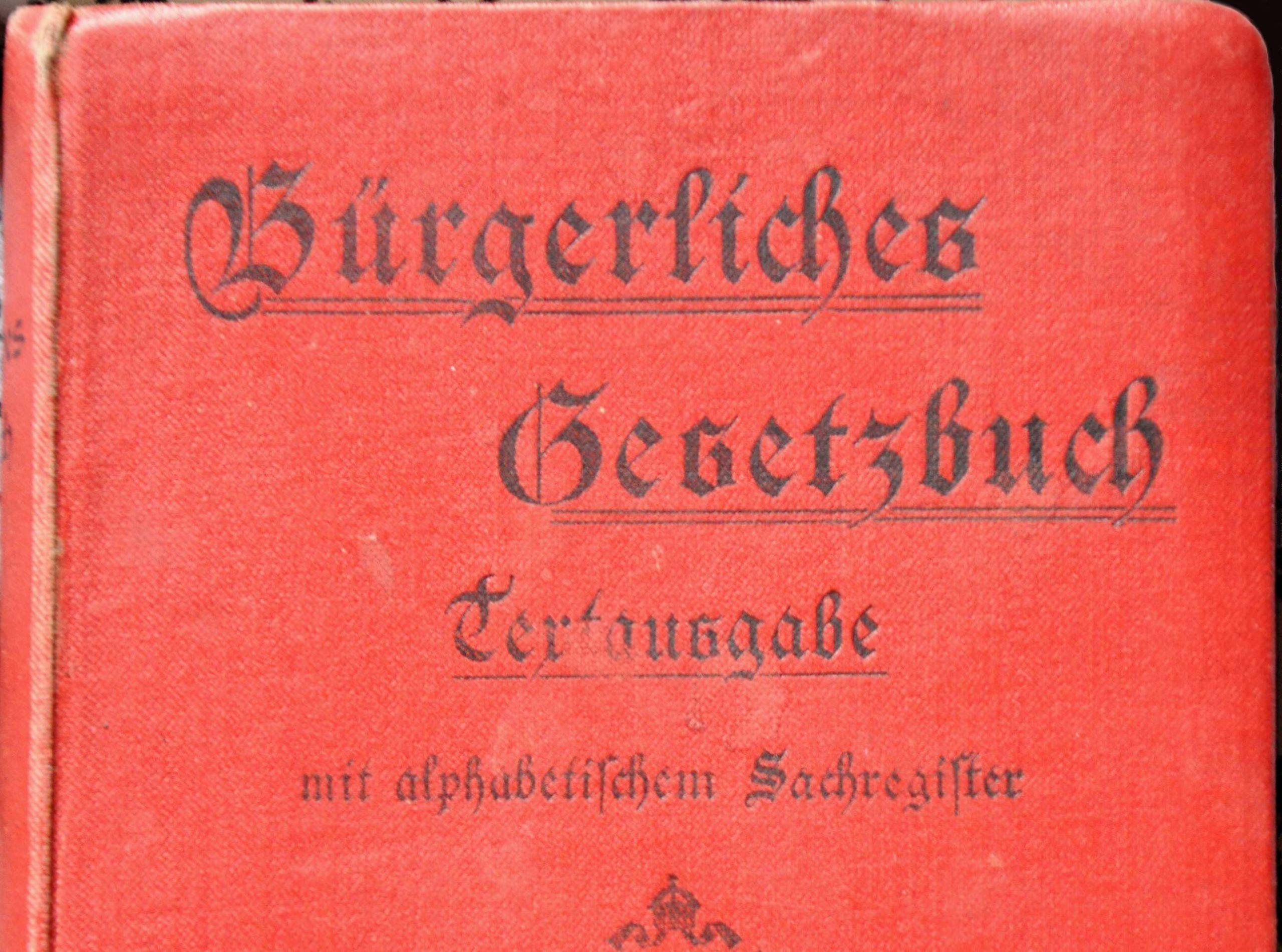 BGB von 1896