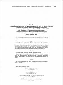 BGBl-Behindertenrechtskonvention