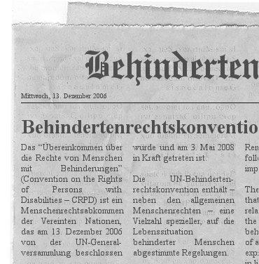 CRPD Zeitung - Bewusstseinsbildung