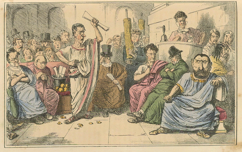 Comic History of Rome Table 10 Cicero denouncing Cataline - Teilnahme am kulturellen Leben