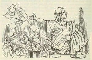 Comic History of Rome p 296 Cicero throws up his Brief like a Gentleman 300x194 - Meinungsfreiheit und Informationszugang